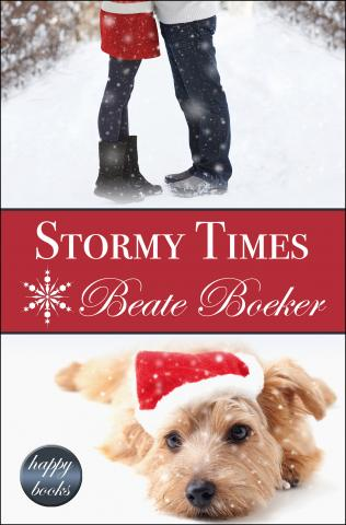 Cover Stormy Times by Beate Boeker sweet Christmas romance puppy