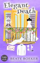 Cover Elegant Death by Beate Boeker Temptation in Florence # 7 cozy mystery